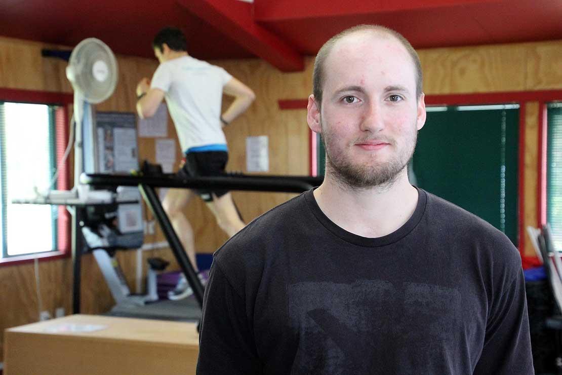 Massey University Master's student Kyle Southward.