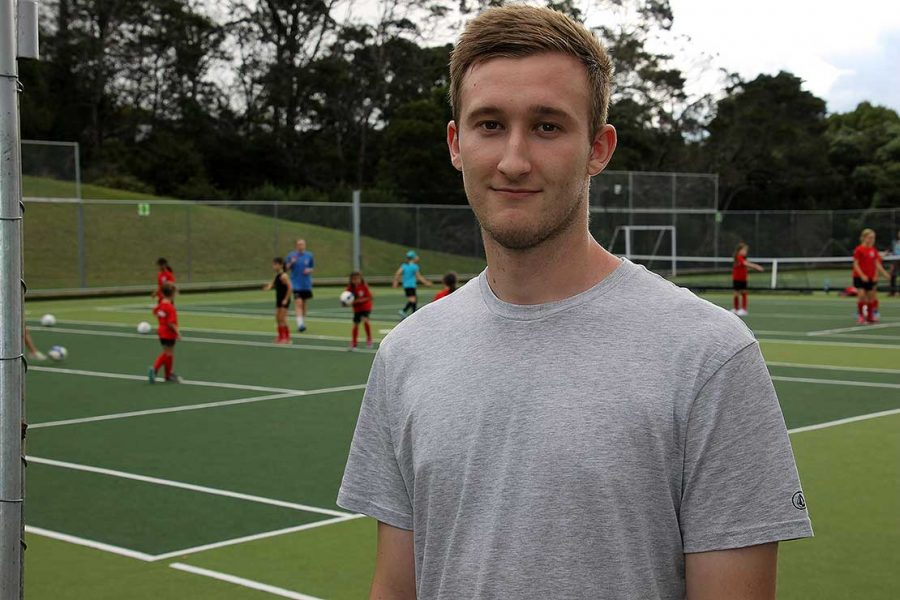 Massey University honours student Daniel Gordon, on a mission to find out what Kiwi kids really drink when playing sports.
